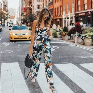 Anthropologie Floral Jumpsuit